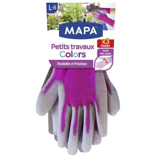 Gant petit travaux colors T7 MAPA