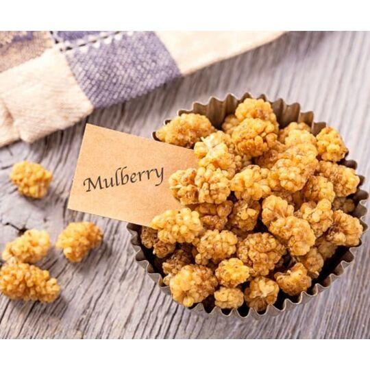 Mulberries Blanches Séchées Bio Fairtrade Ouzbékistan - 100g - Hecofair HECOSFAIR