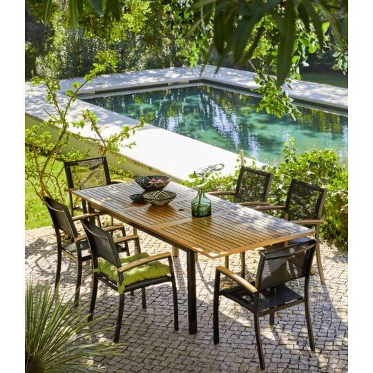 Table De Jardin Extensible Louga A Prix Carrefour