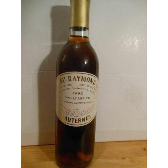 50 Cl Sauternes Château Raymond Lafon Liquoreux 1992 - Bordeaux.