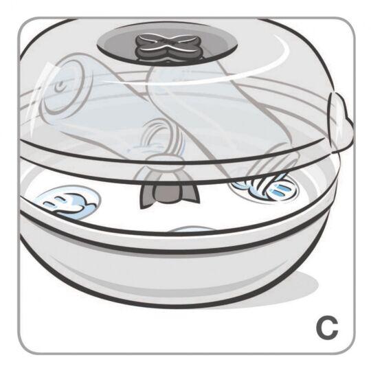 Stérilisateur Biberon Micro-ondes 4 Mn Express NUK