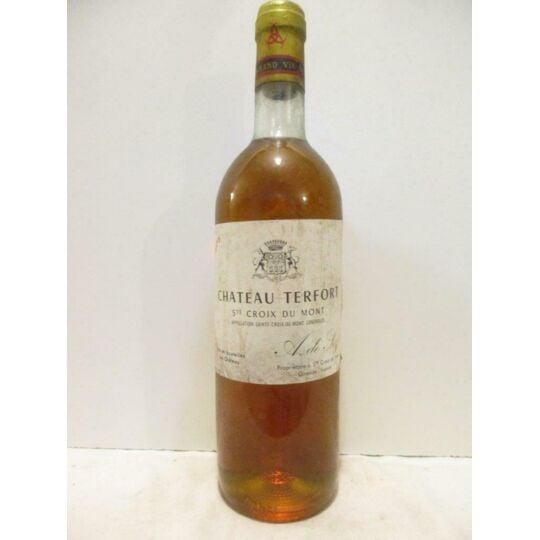Sainte-croix Du Mont Château Terfort Liquoreux 1975 - Bordeaux