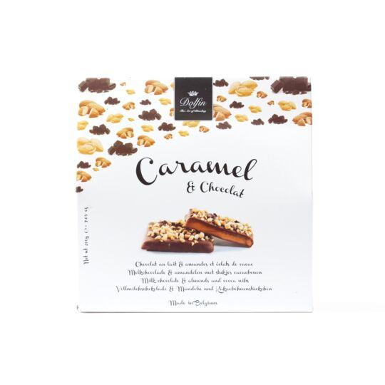 Caramel & chocolat - Chocolat au lait amandes et éclats de cacao (200g) CHOCOLAT DOLFIN