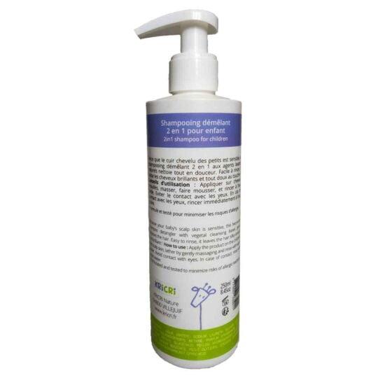 Shampooing démêlant 2-en-1 250 ml Made in France KRICRI NATURE