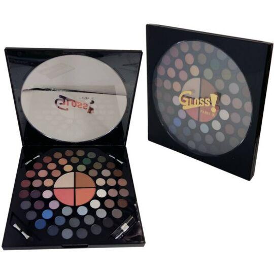 Palette De Maquillage Cadran Rond Noir - 58pcs GLOSS