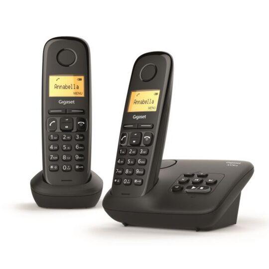 Gigaset Al170a Duo Téléphone Fixe Sans Fil Dect/gap Répondeur Noir
