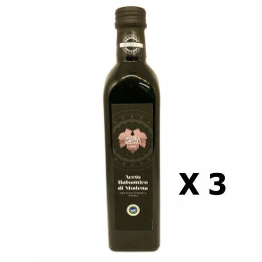 Lot 3x Vinaigre Balsamique - Aceto Balsamico Igp - Modène - Bouteille AGIDRA