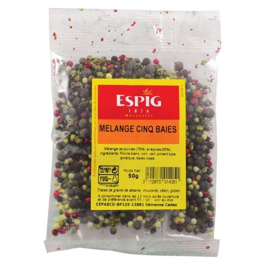 Mélange 5 baies Epices et poivres 50g ESPIG