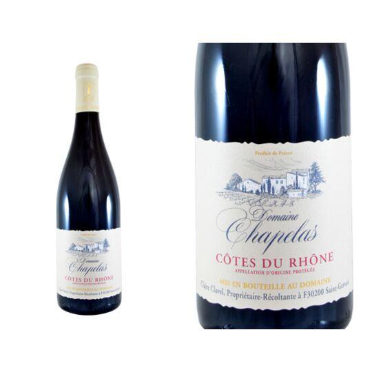 Domaine Chapelas Côtes Du Rhône Rouge 2019 - Vin  Rouge