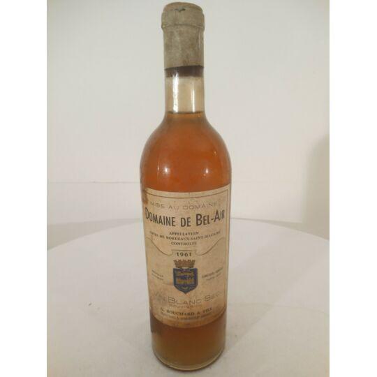 Saint-macaire Domaine De Bel Air Blanc 1961 - Bordeaux.