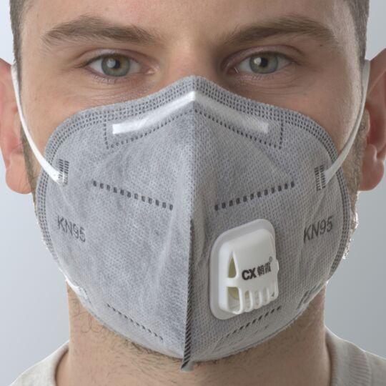 100 Masques Ffp2 Avec Valve réutilisable