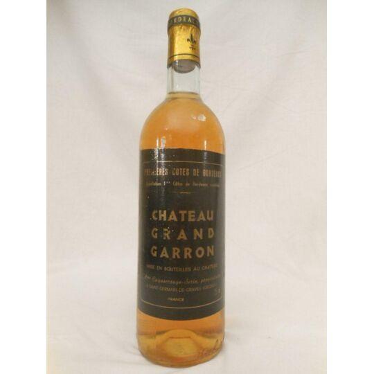 Premières Côtes De Bordeaux Château Grand Garron Année Supposée 1970 Liquoreux