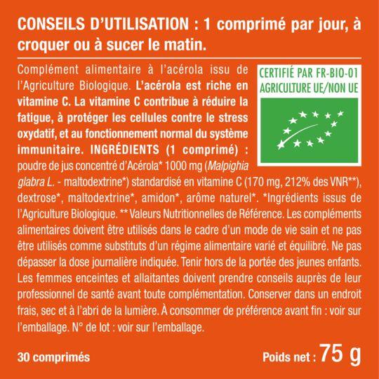 Complément Alimentaire Acerola Bio NUTRIMEA