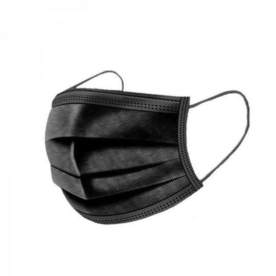 Masques Chirurgicaux Type 1 Couleur  Noir - Boite De 50 Pieces