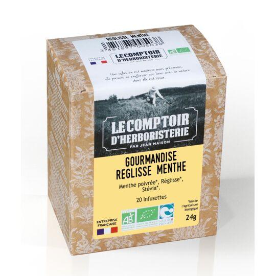 Tisane Infusette Gourmandise Reglisse Menthe Bio (x20) LE COMPTOIR D'HERBORISTERIE