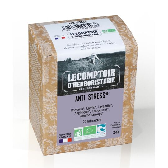 Tisane Infusette Anti-stress Bio (x20) LE COMPTOIR D'HERBORISTERIE