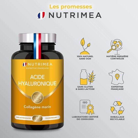 Complément Alimentaire Acide Hyaluronique + Collagène Marin NUTRIMEA