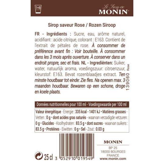 Sirop Saveur Rose - Arôme Naturel - 25cl MONIN