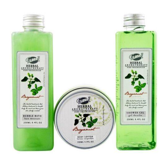 Coffret De Bain Frais Au Parfum Bergamote Et Basilic - 3pcs GLOSS