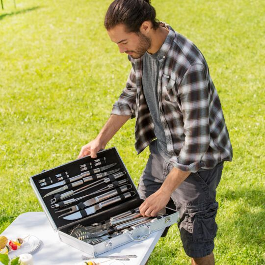 Mallette Barbecue 25 Accessoires TECTAKE