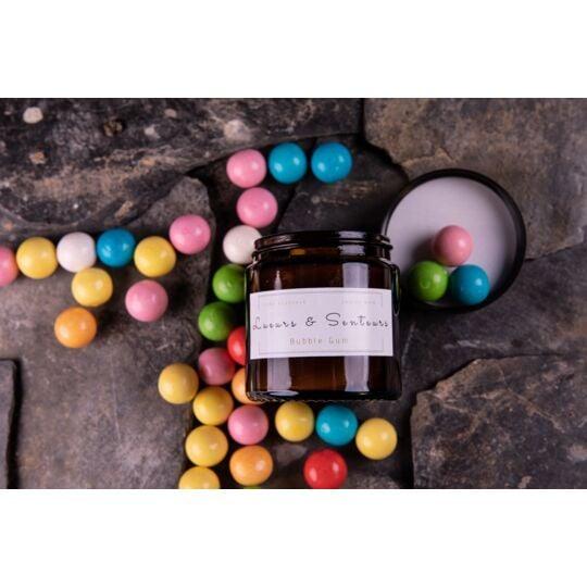 Bougie Bubble Gum 120g - Mèche En Coton naturel