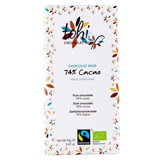 Chocolat Bio Noir 74% Cacao CHOCOLAT TOHI