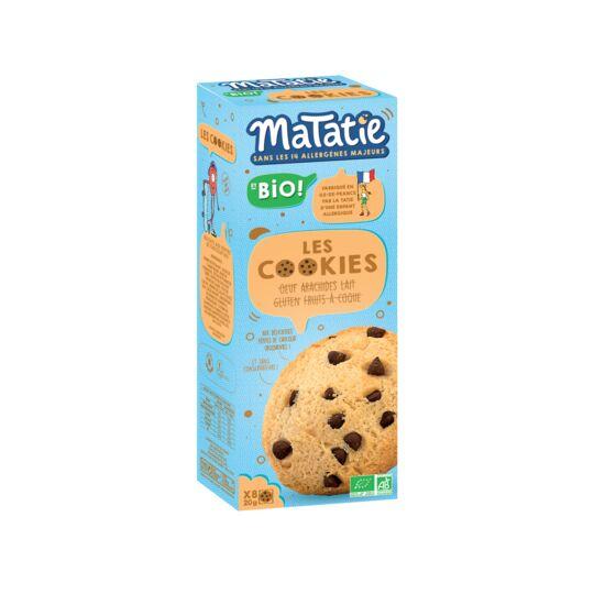 Cookies Pépites Bio sans allergènes majeurs MATATIE