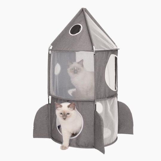 Cat It Tour A Chat Fusee Vesper Rocket Ship - Gris CAT IT