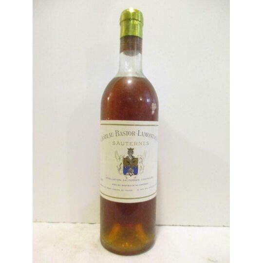 Sauternes Château Bastor-lamontagne (b3) Liquoreux 1967 - Bordeaux