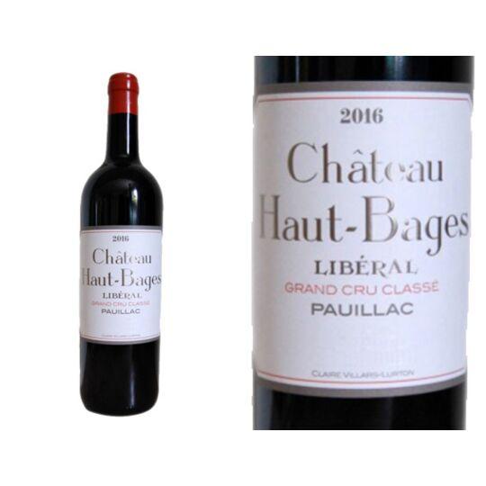 Château Haut-bages Liberal 2016 - Vin  Rouge