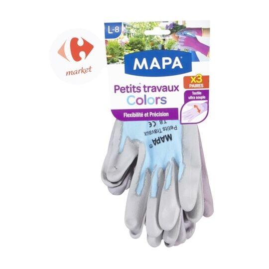 Gants colors T8 x3 MAPA