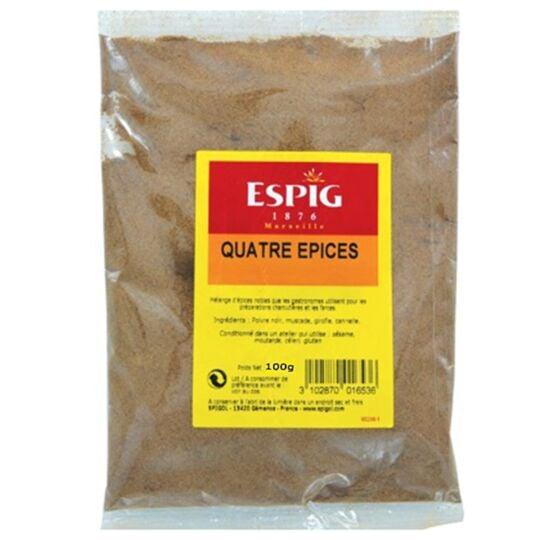 Quatre épices Mélange d'épices moulues 100g ESPIG