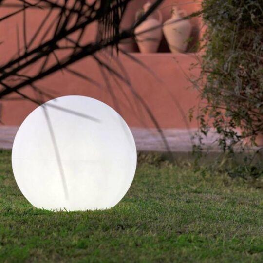 Lampe de jardin boule lumineuse Buly 20cm solaire Cool White
