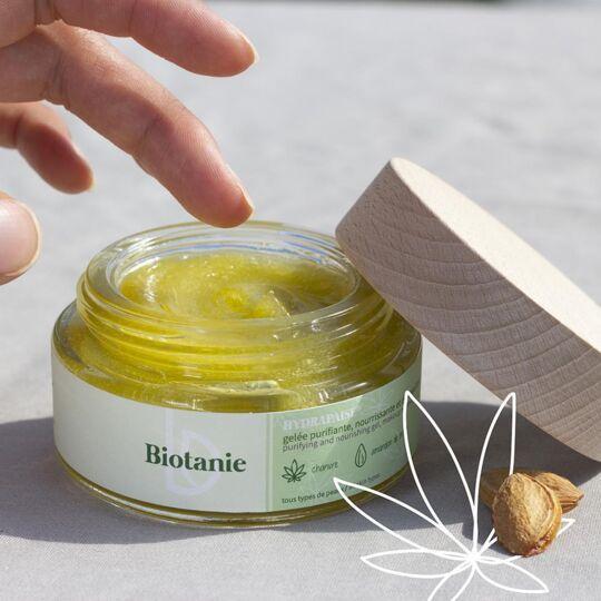 Gelée Au Chanvre Purifiante & Démaquillante Biotanie 30 Ml