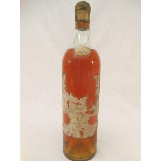 Sainte-croix Du Mont Château Bel Air (étiquette Très Abîmée) Liquoreux 1937 CHÂTEAU BEL AIR