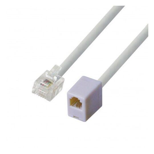 Câble de téléphone + Adaptateur - PSTEL05 - Blanc