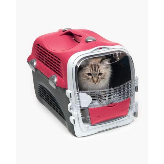 Catit – Cage De Transport Cabrio Pour Chat, Rouge Cerise CAT IT