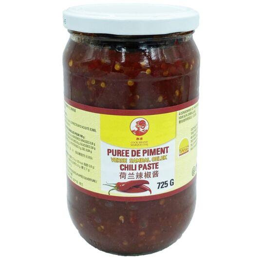 """Purée De Piment """"sambal Oelek""""  - Grand Format 725g - 1 Pot COQ"""