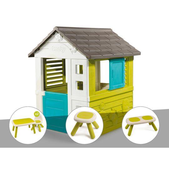 Cabane Enfant Pretty - Smoby + Table Et 2 Chaises + Tabouret + Banc SMOBY