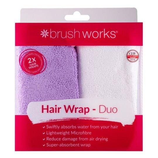 BRUSHWORKS - 2 serviettes microfibre cheveux BRUSHWORKS