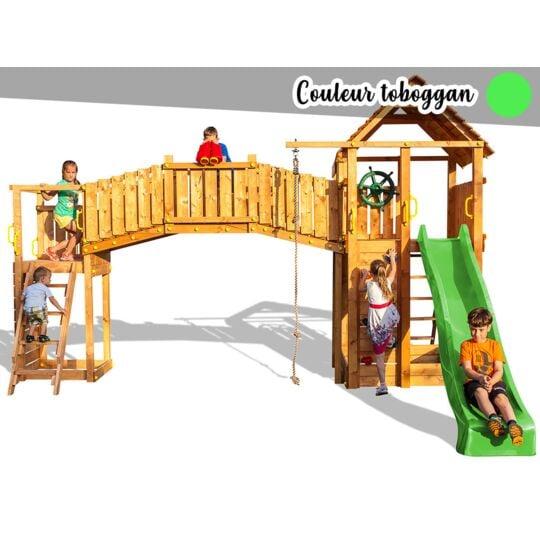 Aire De Jeux Rainbow Fortress Tip - Toboggan Vert