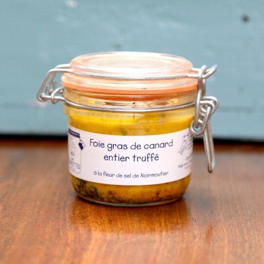 Foie Gras De Canard Entier Truffé 100g 2 Parts LES BOURIETTES