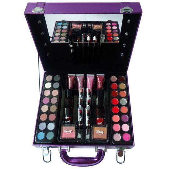 Mallette De Maquillage Viollette Avec Des Ampoules Décoratives GLOSS