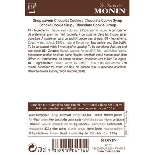 Sirop Saveur Chocolat Cookie - Arôme Naturel - 70cl MONIN