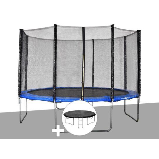 Kit Trampoline Jardideco Cronos Ø 3,66 M Bleu + Bâche De JARDIDECO