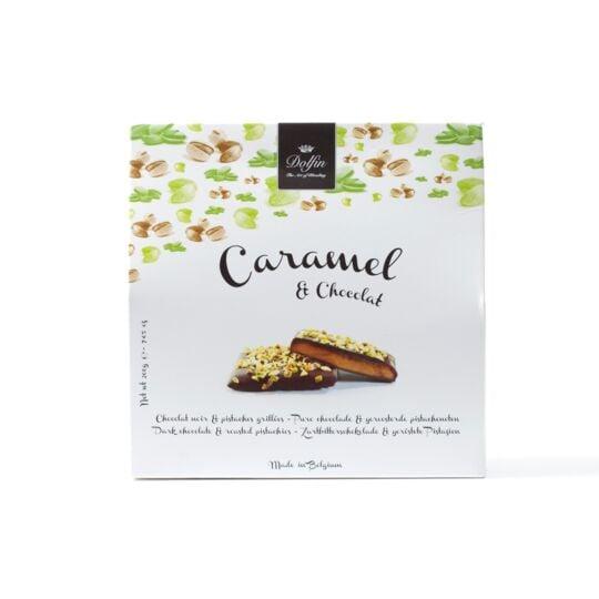 Caramel & chocolat - Chocolat noir et pistaches grillées (200g) CHOCOLAT DOLFIN