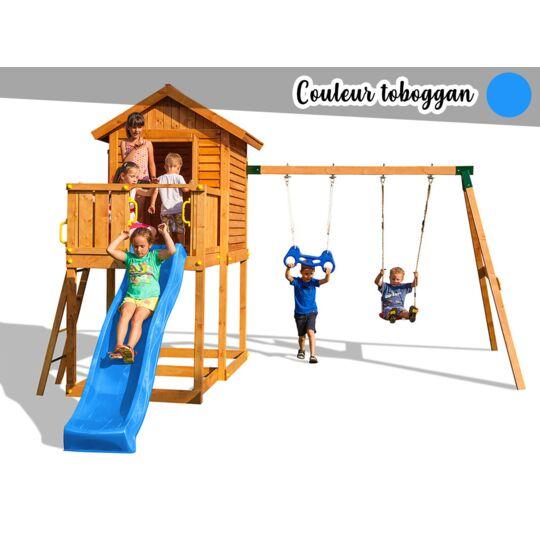 Aire De Jeux My House Move - Toboggan Bleu FUNGOO