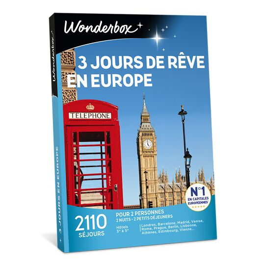 3 Jours De Rêve En Europe WONDERBOX