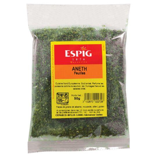Aneth feuilles Herbe aromatique 50g ESPIG