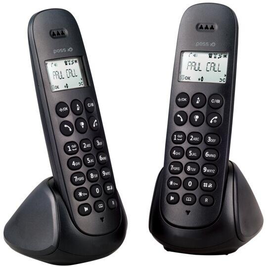 Téléphone fixe sans fil Duo - PSDP130D - Noir